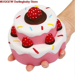 $enCountryForm.capitalKeyWord NZ - New 11.5 CM Jumbo Strawberry Cake Scented Squishy Slow Rising Fun Funny Gadgets Interesting Toys Stress Relief Squeeze Toys Gift