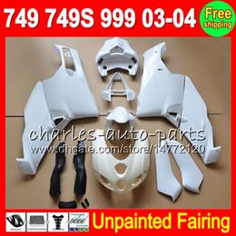 Chinese  8Gifts Unpainted Full Fairing Kit For DUCATI 749 999 03-04 749S 749R 749-999 03 04 999S 999R 2003 2004 2003-2004 Fairings Bodywork Body KIT manufacturers
