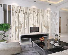$enCountryForm.capitalKeyWord NZ - Europe Bird Tree Mural Wallpaper 3D Waterproof Living Room TV Background Wall Rustic Wallcovering Black White Color Home Decor