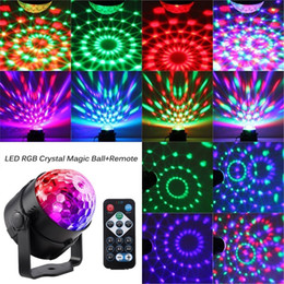 magic bulb Australia - Hot Selling Stage Lighting Effect Crystal Magic Ball Bulb LED Stage Light Disco Club DJ Party Laser Light Sound Control