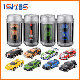 Micro Gears Australia - 8 Colors Hot Sales 20KM H Coke Can Mini RC Car Radio Remote Control Micro Racing Car 4 Frequencies Toy For Children