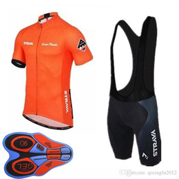 maillot bib 2019 - Strava Team Summer Cycling Jersey mtb maillot Breathable Bike Clothing Quick Dry short sleeve bib shorts sets 9D gel pad