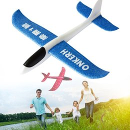 Discount toy airplanes fly - Flying Mini Foam Throwing Glider Inertia DIY Aircraft Toy Hand Launch Airplane Model Light Toys For Kid