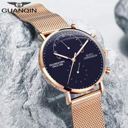 ac1b4e45e117 GUANQIN Relojes Para Hombre Marca de Lujo de Cuarzo Reloj de Cuero Genuino  Manos Luminosas Relojes de Los Hombres Relojes de Diseñador S924