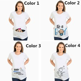 cb8061f360ee8 Women s T-shirts Slim Cartoon Maternity Tops Baby Is Loading Funny  Pregnancy T Shirts Cotton T-shirt for Pregnant Women Tees 2XL