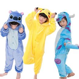 ebd3119281 Niños Pijamas Set Animal Pikachu Stitch Panda Unicornio Pijamas Niños  Pijamas Para Niños Niñas Ropa de dormir Cosplay Disfraz Onesies