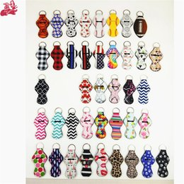 $enCountryForm.capitalKeyWord NZ - Neoprene Chapstick Cover Holder Keychain Cute Mermaid Tail Lipstick Lip Gloss Wrap Keyring Fashion Pendant Multicolor Charms For Bags
