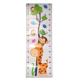 Wholesale 1Pc Height Chart Growth Measure Decal Wall Sticker For Kids Art Mural Removable Art Mural Removable Cartoon Pv