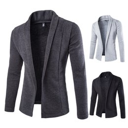Chinese  NEW Autumn Winter Simple Solid Design NEW Open Stitch Men's Sweater coat V Neck sweaters Computer knitted Slim Jackets MQ422 manufacturers