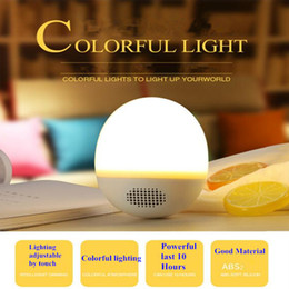 Discount diy wireless audio Newest Novelty Tumbler Atmosphere Light Audio DIY Expression Bluetooth Audio Creative Colorful Pat light Portable Wirele
