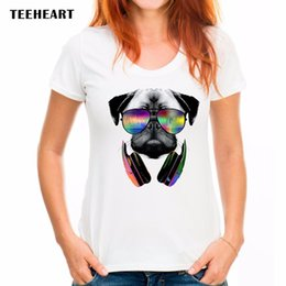 $enCountryForm.capitalKeyWord Canada - Summer New Womens T Shirts Pug Life DJ Dog Printed T Shirts Women Round Neck Short Sleeve Tees Shirt Clothes Swag px061