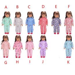 $enCountryForm.capitalKeyWord NZ - 18 Inch Doll Pajama Sleepwear Night Dress for 18 inch American Girl Doll Cloth Apparel accessories