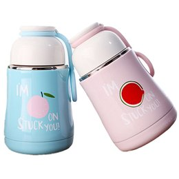 $enCountryForm.capitalKeyWord UK - Cute Stainless Steel Thermos Cartoon Fruit Belly Vacuum Flask Winter Outdoor Portable Hot Water Bottle Children Kettle