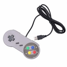 joystick controller pc UK - Classic USB Controller PC Controllers Gamepad Joypad Joystick Replacement for Super SF for SNES NES Tablet PC LaWindows MAC