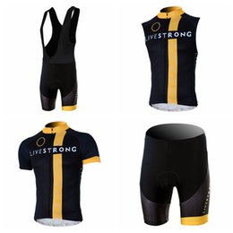 online shopping LIVESTRONG Cycling Short Sleeves jersey bib shorts Sleeveless Vest sets Mountain Bike Wear Outdoor Sportswear ropa ciclismo hombre A41604