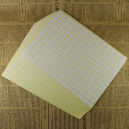 White Blank Sticker Paper Australia - 7 sizes Large Small square Self adhesive label office easy writing stick-on label small blank white writing paper sticker
