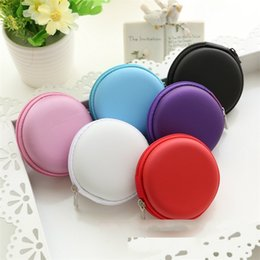 Hand pHone organizer online shopping - Round Storage Box Data Line USB Ear Phone Coin Purse Portable Case For Hand Spinners Container Practical hx D R