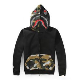 Justin bieber sale online shopping - 2018 Mens designer Sweatershirt Ape Hoodies Long Sleeve Justin Bieber bathing with Shark Printing Hooded Hoodies Cheap Sale