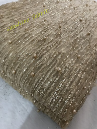 Gold Silver Glitter Mesh Fabric For Evening Dress Gold Sequin Fabric For Dress  2018 African French Lace Fabric High Quality 5cfe1112d209