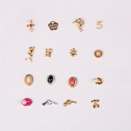 $enCountryForm.capitalKeyWord Canada - 10pcs lot 3d Nail Art Jewelry Fashion Lip Gun Love Mermaid Cacti Design Gold Alloy Nail Art Studs ER012