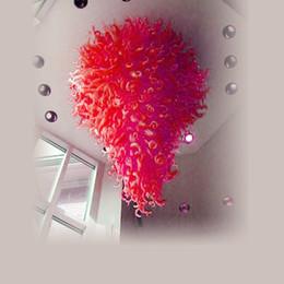 $enCountryForm.capitalKeyWord Australia - Hot Sale Large Led 100% Hand Blown Glass Crystal Chandelier Elegant Best Decor Livingroom And Bedroom Lamps Chihuly Style Chandelier Light