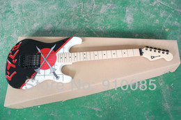 paint electric guitar 2018 - Free shipping Black color Two swords clash painting OEM Electric Guitar HOT