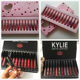 $enCountryForm.capitalKeyWord UK - New kylie Lipgloss fall & pink & brithday & take me on 12 color Matte Liquid Lipsticks Kylie Cosmetics 12pcs Lipgloss Lip Gloss Set