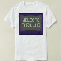 White Screen S Canada - Welcome screen t shirt Millhouse thrillho short sleeve gown Leisure tees Unisex clothing Quality cotton fabric Tshirt