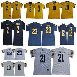 Michigan Wolverines 10 Tom Brady Jersey 2 Woodson 3 Rashan Gary 12 Chris  Evans 23 Tyree Kinnel 21 Desmond Howard College Football Jerseys 369993d6c