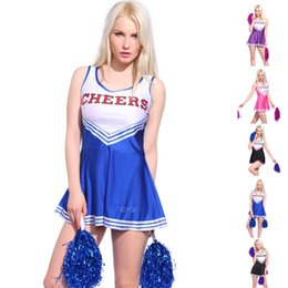vocole xs xl high school girls cheerleading costume sleeveless cheerleader uniform sportwear lady halloween fancy costume sexy