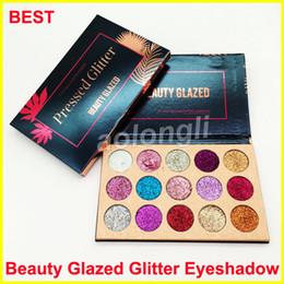 New Makeup Beauty Glazed Glitter Eyeshadow Palette 15 color Ultra Pigmented Glitter Shimmer Eye shadow Palette Beauty DHL free Shipping