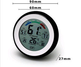 Hygrometer Termometor Digital Thermometer Electronic Thermometer Humidity Meter wall clock Fridge magnet sticker on Sale