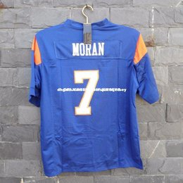 Cheap custom Alex Moran Jersey  7 Blue Mountain State Movie TV Football  Stitched Blue Customized Any name number Stitched Jersey XS-5XL c718bd790