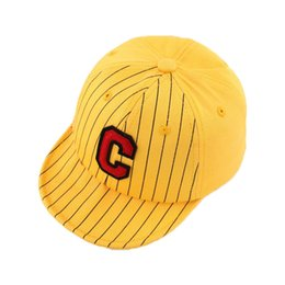 China 2018 Unisex Child Baseball Cap Kid Baby Letter Patch Stripe Adjustable Soft Brim Baseball Hat Spring Autumn MZ5583 cheap wholesale letter hat patches suppliers