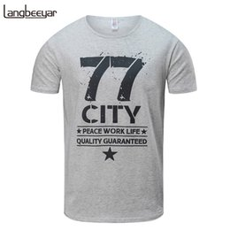 Discount top clothing trends - 2018 Fashion New Men T Shirt Summer Top Trend Letter Printed Slim Fit Short Sleeve T-Shirt Cotton Casual Men Clothes M-6