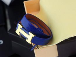 $enCountryForm.capitalKeyWord NZ - Buckle Quality Celebrity design 2019 bracelet Real Leather Leather Clover Cuff Bracelets Jewelry With Box