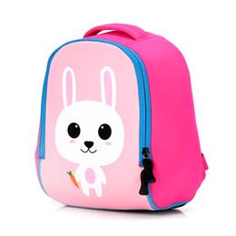 c1ebecb8a638 Toddler Kids Cute Animal Printing Backpack Children 3D Neoprene School Bags  Kindergarten Baby Girls Boys Cartoon Zoo Pack Rabbit