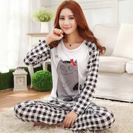 Spring Autumn Pyjamas models thin cotton pajamas set ladies cartoon Pijama  Mujer Sleepwear Suit long-sleeved casual home clothes d05f4dd77