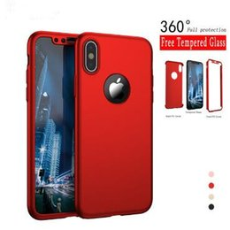 $enCountryForm.capitalKeyWord Canada - 360 Degree Ultra-thin Coverage Full Body hard PC Case Cover with Tempered Glass Screen Protector For Iphone XS MAX XR X 8 7 6 plus