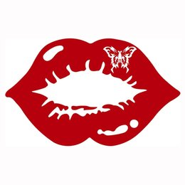 c1ffb1b6b89 Red Car Lips UK - Butterfly Kiss Sexy Lips Mouth Car Truck Window Vinyl  Decal Sticker