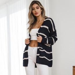 $enCountryForm.capitalKeyWord NZ - Autumn Winter Fashion Plus Size Long Sleeve Clothing Knitted Sweaters Women Woolen Yarn Knit Fabric Long Cardigan Striped Sweaters Women