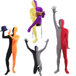 $enCountryForm.capitalKeyWord NZ - High Quality Full Body Catsuit Patchwork Zentai Unitard Lycra Spandex 2nd Skin Suit Halloween Carnival Cosplay Costume for Adult