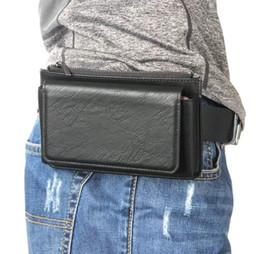 Wholesale Belt Clip Mobile Phone Leather Case Zipper Card Wallet For Xiaomi Pocophone F1 Mi A2 Lite For Galaxy J8 For BlackBerry KEY2