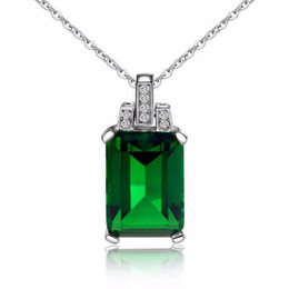 $enCountryForm.capitalKeyWord UK - Europe and the United States new plated 925 silver 18K gold emerald pendant color multicolor gemstone tourmaline color necklace gift