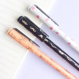 $enCountryForm.capitalKeyWord Australia - 3X Elegant Beard Bow Dots Pastel Gel Pen Rollerball Pen Stationery School Office Supply Blue Ink 0.5mm