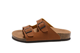 b720beeccd0e46 Men and Women Slide Sandal Buckle Slip On Slippers Comfort Cork Footbed  Women s Gizeh Cork Thong Arizona Buckle leather Mahogany Sandal