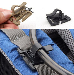 tube pipe clamps NZ - Drink Tube Clip Gear Water Pipe Hose Clamp Backpack Molle Carabiner Tactical Buckle Outdoor Camping Hike Hydration Bladder EDC