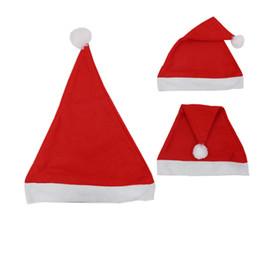 e347dc2771b93 Adults Kids Christmas Caps Thick Ultra Soft Plush Santa Claus Holidays  Fancy Dress Hats Fashion Design Cap Xmas New Year Party Decoration