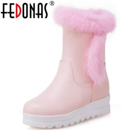 $enCountryForm.capitalKeyWord NZ - FEDONAS Fashion Cute Women Ankle Boots Wedges High Heels Warm Snow Boots Comfort Casual Shoes Woman Short Basic