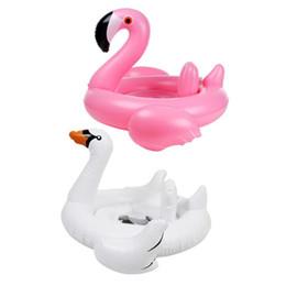 Надувное кольцо плавание фламинго лебедь бассейн воздушный матрас поплавок игрушка для воды игрушка для детей детское младенческое плавание кольцо бассейна аксессуары на Распродаже